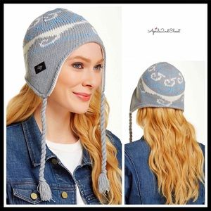 LUXE COZY LINED NORDIC TASSEL TRAPPER BEANIE HAT